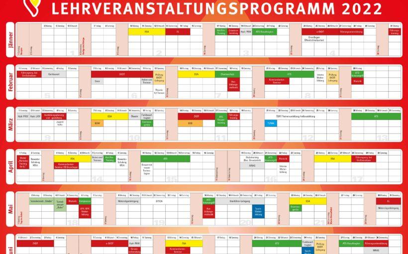 LEHRVERANSTALTUNGSPROGRAMM 2022