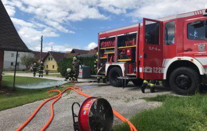 Übung in Eis – Wohnhausbrand