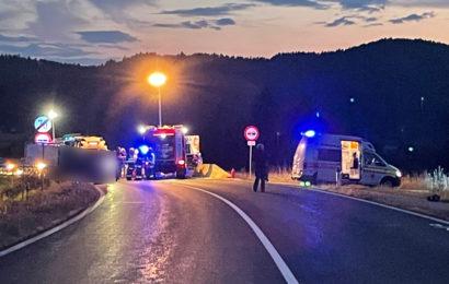 Schwerer Verkehrsunfall nahe der Jörg-Haider-Brücke